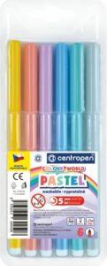 Dětské fixy Centropen Colour World  Pastel 7550 sada 6 ks