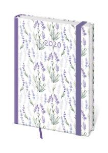 Diář Stil 2020 A5  týdenní s gumičkou Vario – Lavender s gumičkou