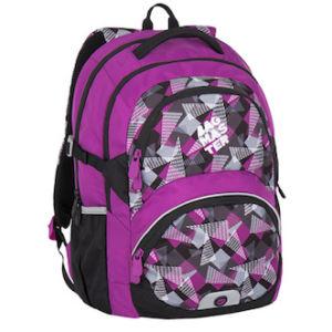 Dívčí školní batoh od 3. třídy Bagmaster THEORY 7 A PINK/GREY/BLACK