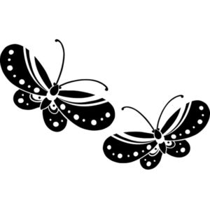 Dřevěné razítko, velikost D, motýlí pár