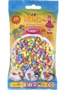 Hama zažehlovací korálky  Hama mix 1000ks MIDI – pastelové barvy