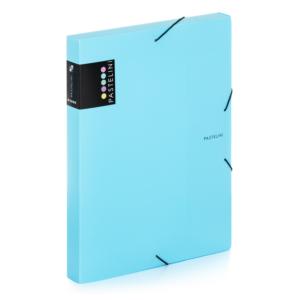 Krabice s gumou A4 Pastelini Karton P+P – modrá
