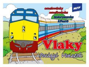 Omalovánky MFP Vlaky