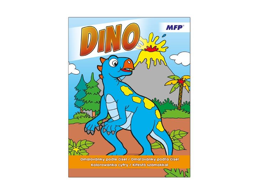 Omalovánky podle čísel Dino