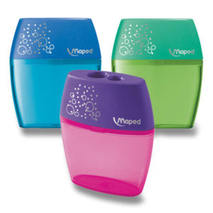 Ořezávátko Maped Shaker, se2 otvory, blistr, mix barev