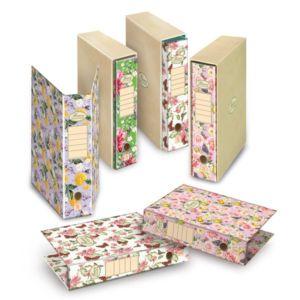 Pákový pořadač Pigna Nature Flowers, A4, hřbet 80 mm, mix motivů