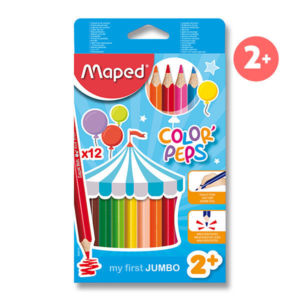 Pastelky Maped Color´Peps Jumbo, 12 barev