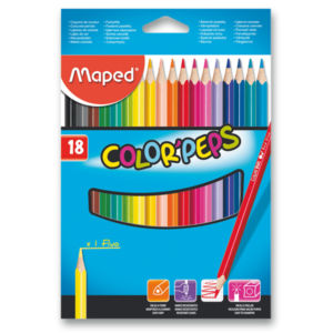 Pastelky Maped Color´Peps, 18 barev