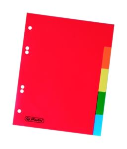 Rozdružovač A5 Herlitz plastový – barevný