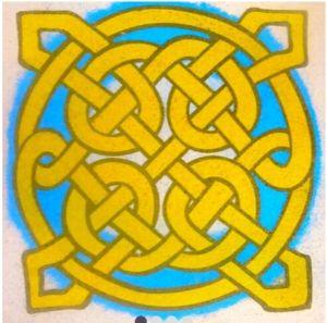 Šablona na pískový obrázek – mandala M19