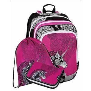 Školní batoh pro holky Bagmaster Alfa 8 B – set