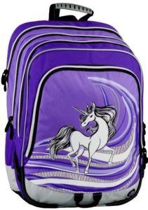 Školní batoh pro holky S1A 0114 B – jednorožec