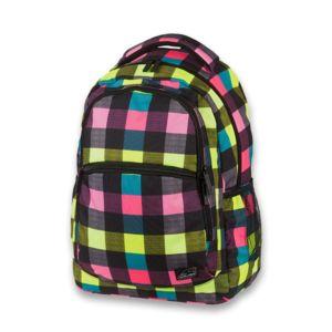 Školní batoh pro holky Walker Base Classic Neon Checks