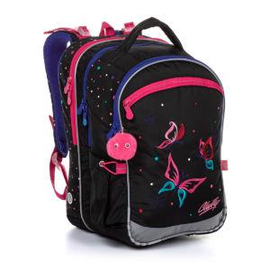 Školní batoh pro holky, Topgal, COCO 20004 G – Motýl