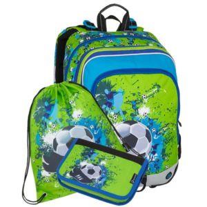 Školní batoh pro prvňáčky Bagmaster Alfa 8 C – 3 dílný set