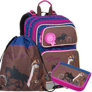 Školní batoh pro prvňáčky Bagmaster Galaxy 9 B – 3 dílný set