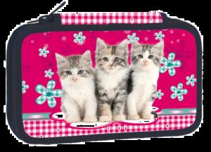 Školní penál třípatrový Cats