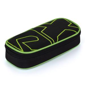 Školní pouzdro (etue) na tužky s klopou Karton P+P komfort – Oxy Black line green