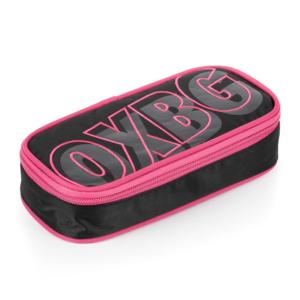 Školní pouzdro (etue) na tužky s klopou Karton P+P komfort – Oxy Black line pink
