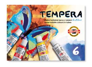 Temperové barvy 162501/6 6×16 ml