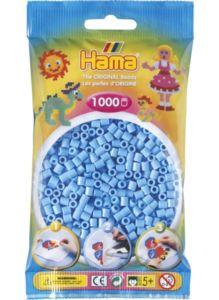 Zažehlovací korálky Hama – Pastelově modré