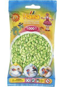 Zažehlovací korálky Hama – Pastelově zelené