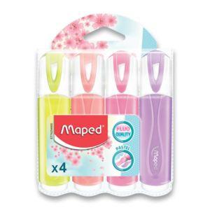 Zvýrazňovač Maped Fluo Peps Pastel – 4 ks