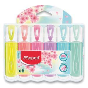 Zvýrazňovač Maped Fluo Peps Pastel – 6 ks