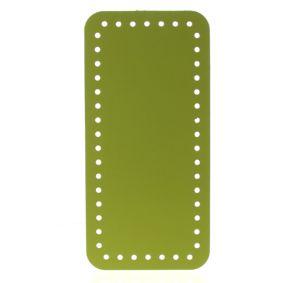 Dno na kabelku eko kůže žlutozelené 25×12 cm