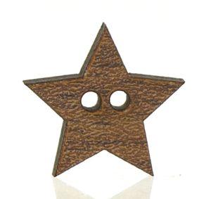 Dřevěný knoflík walnut hvězda 1