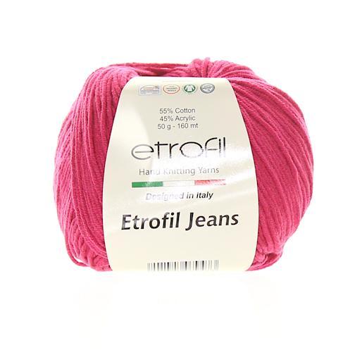 Jeans tmavě růžová 049