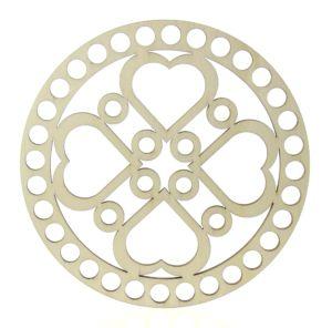 Víko na košík mandala sdce kruh 15cm