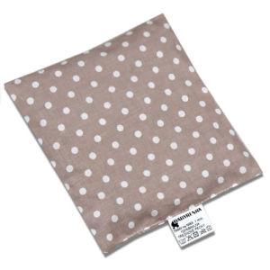 Babyrenka nahřívací polštářek 15×15 cm z třešňových pecek Puntík Duo béžový