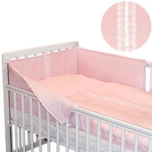 Babyrenka povlečení do postýlky třídílné 40×60,90×130 cm Vanesa růžová