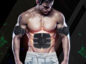 Fitness stimulátor svalů s EMS BLACK