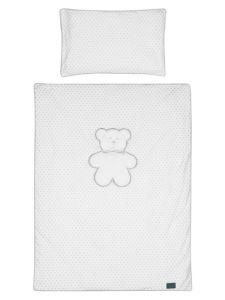 Dětské povlečení do postýlky Belisima Bílý medvídek 3-dílné 90 x 120 cm