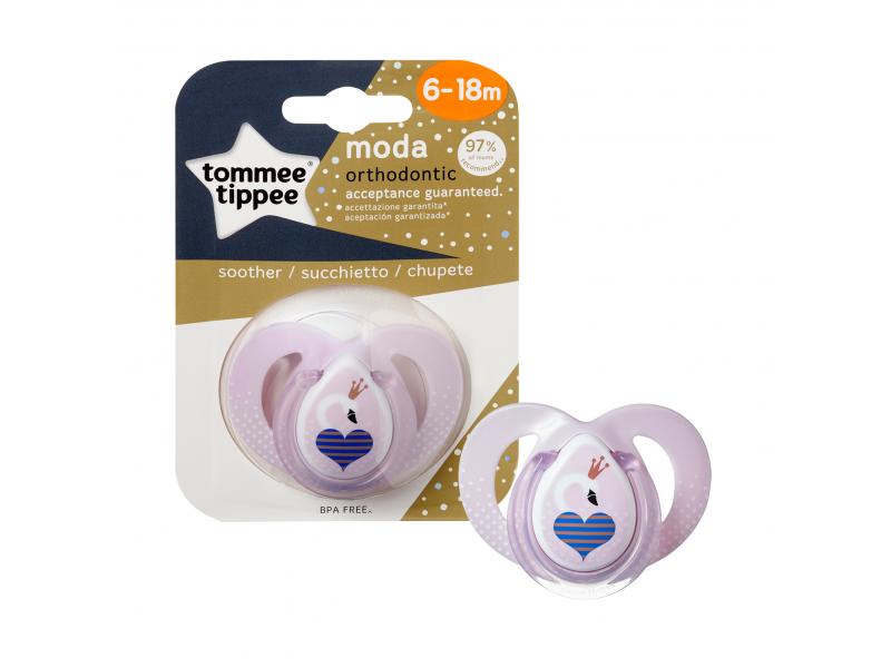 Dětské šidítko Tommee Tippee C2N Moda silikon 6-18 měsíců