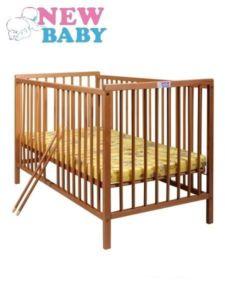 Dřevěná dětská postýlka New Baby Alex 120 x 60 cm