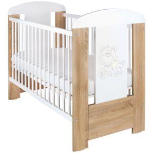 Dřevěná dětská postýlka New Baby Medvídek s hvězdičkou Standard 120 x 60 cm