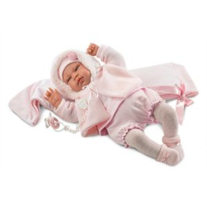 Panenka Llorens New Born holčička s doplňky 44 cm 84422
