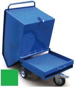 Výklopný vozík na špony, třísky 600 litrů, var. základní, zelený