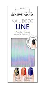 Nail art páska – holografická, 1 mm
