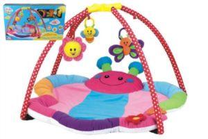 Hrací podložka/Hrazda pro děti s chrastítky plyš/plast v krabici 81×54,6×78,7cm 0m+
