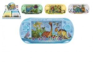 Vodní hra plast hlavolam dinosaurus 16cm 4 barvy 24ks v boxu