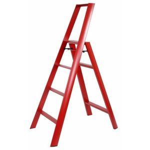 Schůdky velké, 4 schody, červené – Lucano