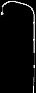 Stojan pro lampu na zeď Willow wall hanger single white H 123 cm – UMAGE