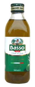 Basso  Olej olivový panenský extra 500ml lisovaný za studena
