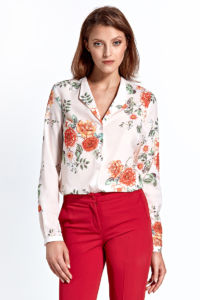 Dámská košile CB22 květinová – ecru