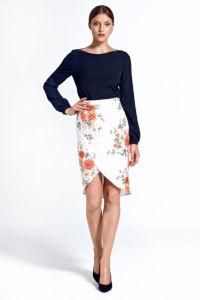 Dámská sukně CSP06 květinová – ecru
