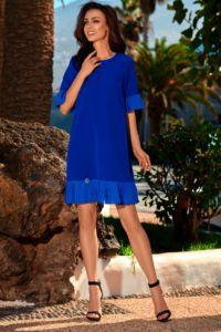Dámské šaty L243 modrá